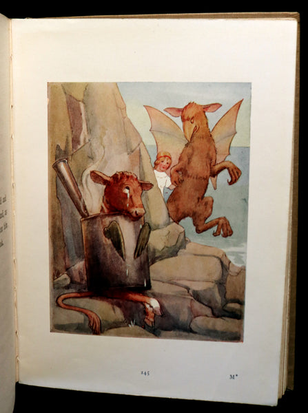 1920 Rare Book - Alice's Adventures in Wonderland with coloured illustrations By Margaret W. Tarrant.
