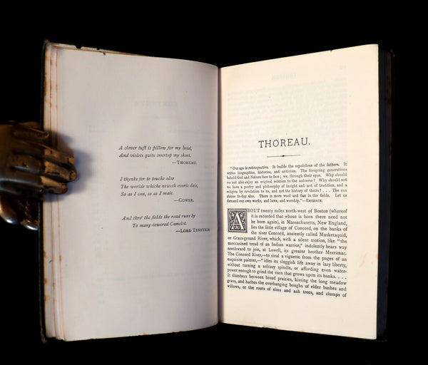 1886 Rare Victorian Book - WALDEN by Henry David THOREAU With an Introductory Note by Will H. Dircks.