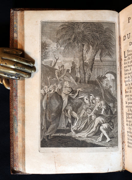 1698 Rare French Latin Book ~ The Office of Holy Week dedicated to the Duchess of Bourgogne. L'Office de la Semaine Sainte.