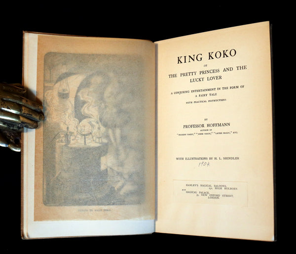 1904 First Edition - CONJURING throughout a Fairy Tale - King Koko by Professor Hoffmann.
