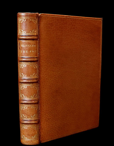 1845 Rare Book bound by the Monastery Hill bindery - REYNARD THE FOX. Medieval Fables.