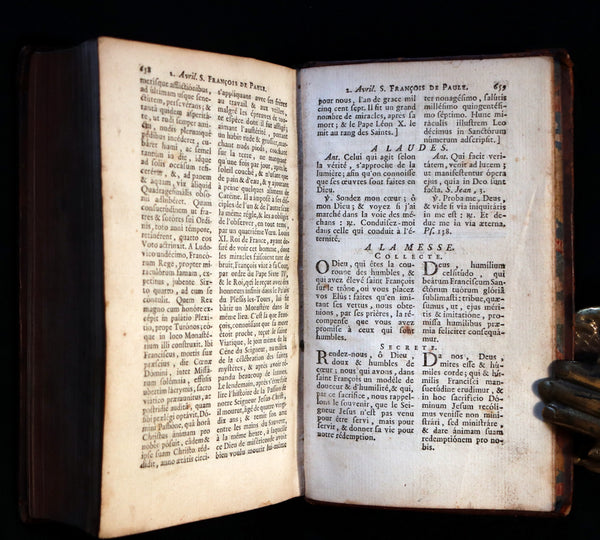 1777 Scarce French Latin Book - Office de la Quinzaine de Paque - Easter Prayer - Devotion following the Breviary and the Missal of Paris.