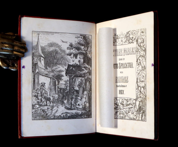 1858 Scarce First Edition - Picture Fables Drawn by Otto Speckter.