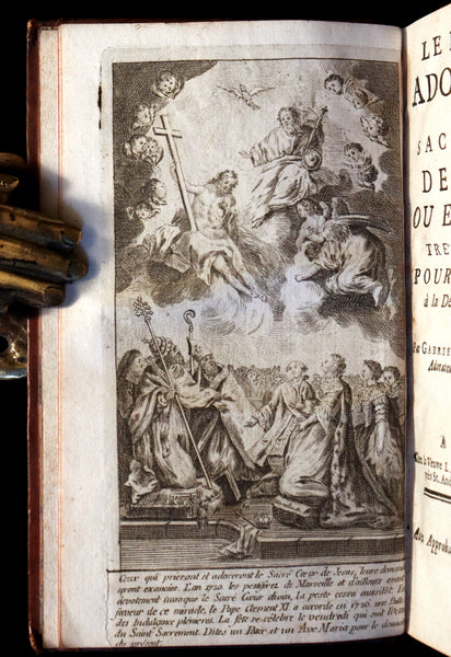 1753 Scarce French Book - The Perfect Worshiper of the Sacred Heart of Jesus by Gabriel-Francois Nicollet. First Edition.
