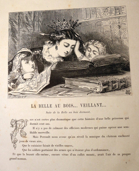1865 Rare French Fairy Tales Book ~ The Tales of Perrault continued by Timothee Trimm.