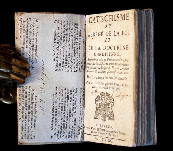 1790 Scarce French Book ~ The Bayeux Catechism or Compendium of Christian Doctrine.