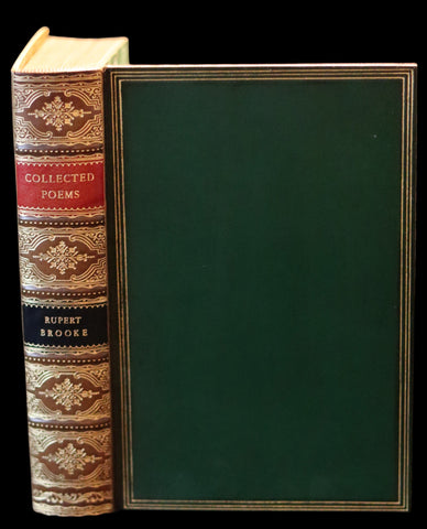1930 Nice RIVIERE Binding - The Collected Poems of Rupert Brooke. With a Memoir.