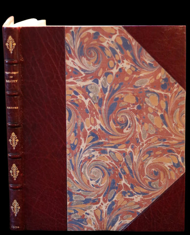 1930 Beautiful Zaehnsdorf Binding - The Testament of Beauty by Robert Bridges.