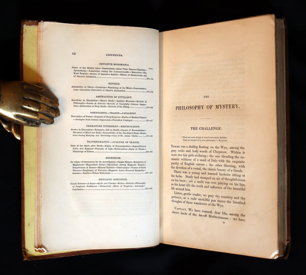 1841 Rare First Edition - Dendy's PHILOSOPHY OF MYSTERY or Ghosts, Fairy Mythology, Spectres, Demonology.