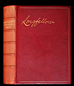 1890 Scarce Book bound by Ramage - The Poetical Works of Henry Wadsworth Longfellow Illustrated by Symington.
