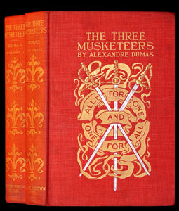 1899 Rare Illustrated Book set - The Three Musketeers by Alexandre Dumas.