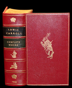 1939 Rare First Edition Book - Complete Works of Lewis Carroll including Alice's Adventures in Wonderland, Through the Looking-Glass, etc.