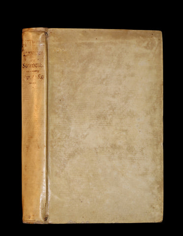 1693 Rare French vellum Book - Sophocles' Tragedies - Oedipe & Electre (Oedipus & Electra).