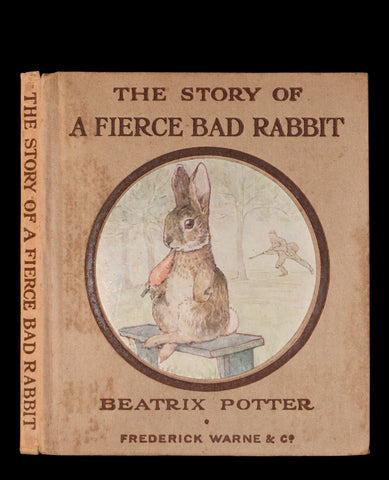 1916 Rare First Edition Book - Beatrix Potter  - The Story of A FIERCE BAD RABBIT.
