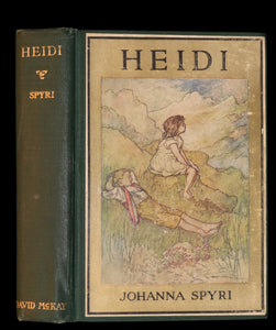 1922 Rare Book - HEIDI by Johanna Spyri beautifully Illustrated.