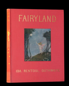 1929 Rare Color Illustrated Book ~ FAIRYLAND by Ida Rentoul Outhwaite. First US Edition.