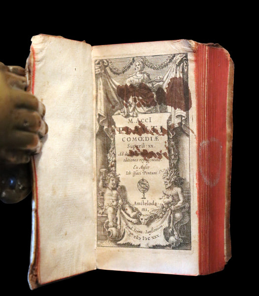 1630 Rare Latin Vellum Book - PLAUTUS Plays - Plauti Comoediae superst : XX.