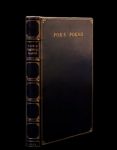 1853 Scarce Fine Book - The Poetical Works of EDGAR ALLAN POE bound by SANGORSKI & SUTCLIFFE.