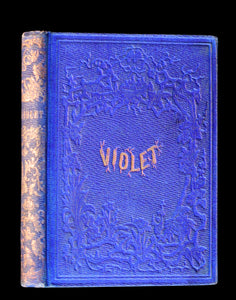 1856 Scarce Victorian Book ~ VIOLET: A FAIRY Story signed by author Caroline S. Guild. 1stED.