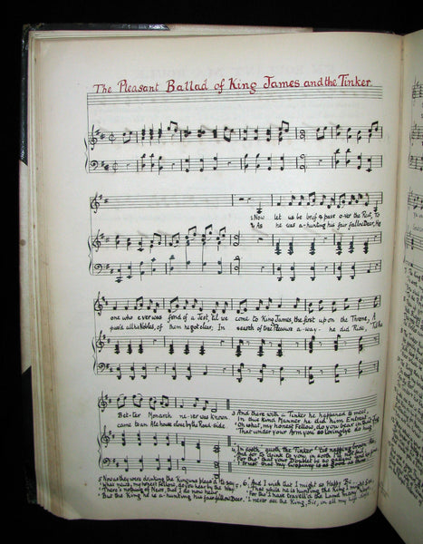 1899 Scarce Victorian Manuscript Music Book - The Slender Boy, None Other, Ich Stand in Dunklen Traumen, etc.
