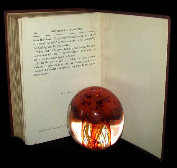 1899 Rare Victorian Book - JULES VERNE Five Weeks in a Balloon.