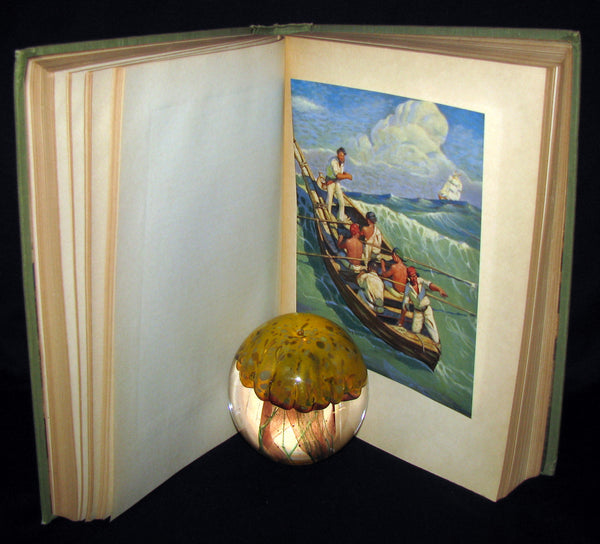 1930 Rare Book - Moby Dick or The White Whale by Herman Melville, illustrated by Mead Schaeffer