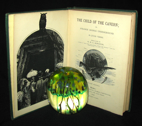 1878 Scarce Second Edition - Jules Verne Child of the Cavern Or Strange Doings Underground