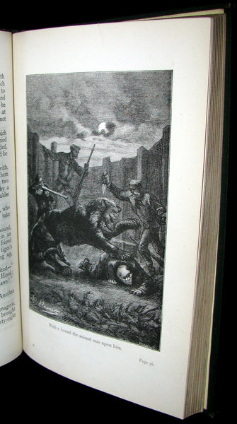 1890 Scarce Jules Verne Book - TIGERS AND TRAITORS  being the second part of The Steam House