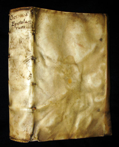 1573 Scarce Latin vellum Book - Letters of Cicero to his close friend Atticus - Epistolarum ad Atticum