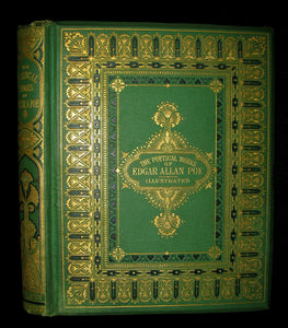 1870 Rare Victorian Book - The Poetical Works of Edgar Allan POE (The Raven, Lenore, Ulalume, ...)