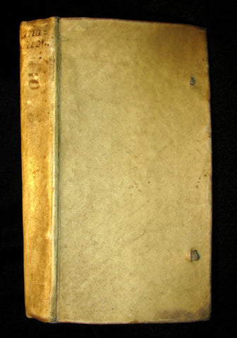 1651 Rare Latin Greek Vellum Book - Anacreon's Poems - Anacreontis Teii Carmina