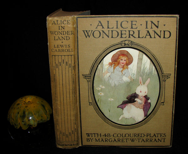 1920 Rare Book -  Alice's Adventures in Wonderland with 48 Coloured Plates By Margaret W. Tarrant