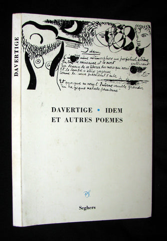 1964 Scarce Edition French Book - IDEM (Haiti) - Great Haitian Poet Davertige - Villard Denis