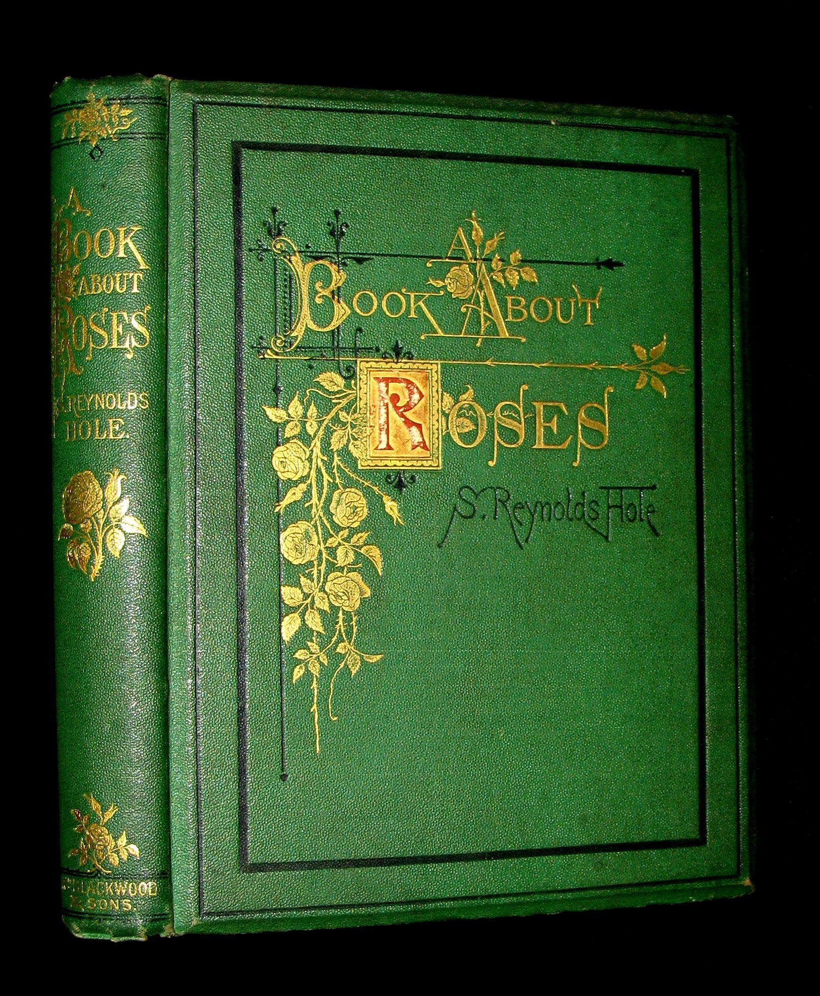 1870 Rare Victorian Gardening Book -  A book about Roses : How to grow and show them