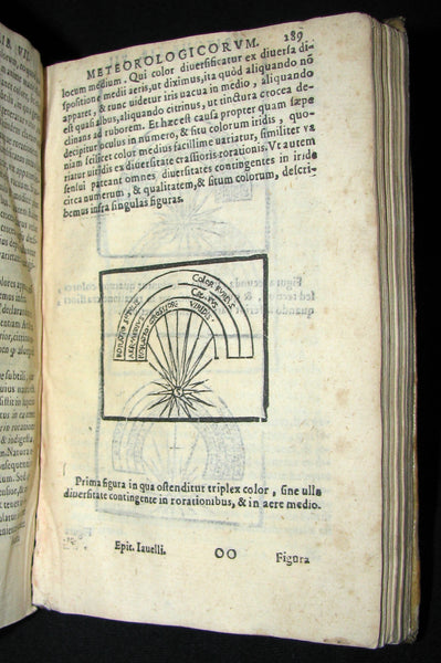 1589 Scarce Latin vellum Book - Philosophy of Aristotle, including his Meteorology Treatise.