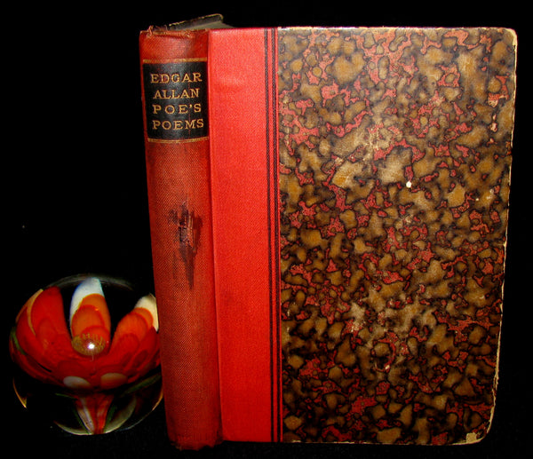 1887 Rare Book - Poems by Edgar Allan POE (The Raven, Lenore, Ulalume, ...)