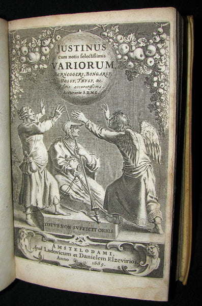 1669 Rare Latin vellum Book - Justin's History of the Kings of Macedonia - Justinus