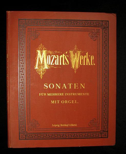 1880's Very Rare Victorian edition of Wolfgang Amadeus MOZART 's SONATAS - Music scores