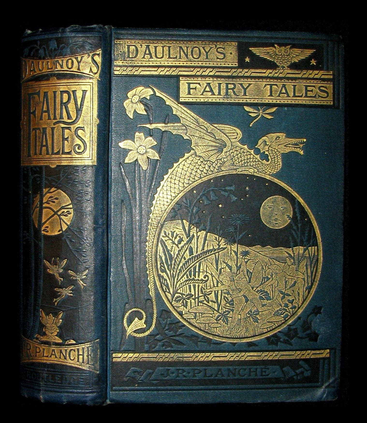 1881 Rare Victorian Book - Fairy Tales by The Countess d'Aulnoy
