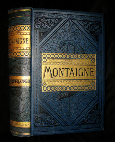 1888 Rare Victorian Book - The Complete Works of Michel De Montaigne Comprising His Essays