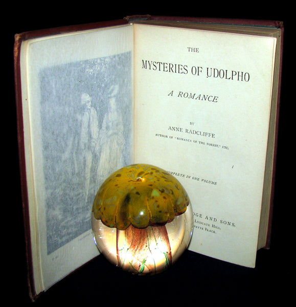 1880's Scarce Gothic Novel Edition -The Mysteries of Udolpho by Ann Radcliffe