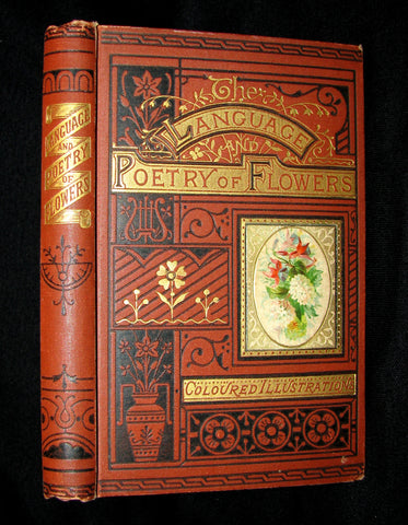 1890 Scarce Book ~ The Language and Poetry of Flowers Illustrated by Mrs L. Burke