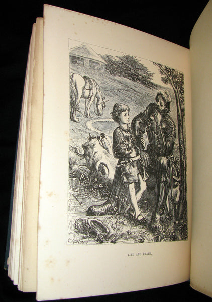 1881 Rare Victorian Book - Legends and Lyrics by Adelaide Anne Procter. Illustrated.