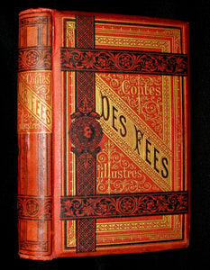1890 Rare COLOR illustrated French Book ~ Contes des Fées by Perrault - Fairy Tales