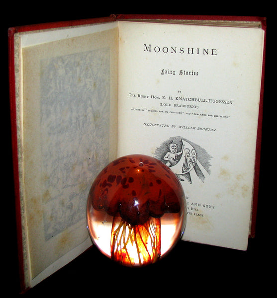 1882 Scare Book - Moonshine Fairy Stories  Illustrated by William Brunton. First Edition.