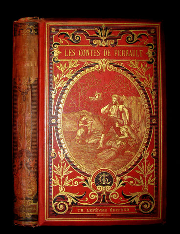 1890 Rare illustrated French Book ~ Contes de Perrault - Fairy Tales