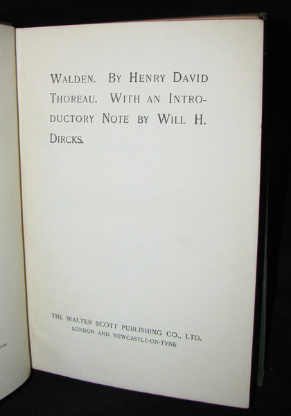 1886 Rare Victorian Book - WALDEN by Henry David Thoreau