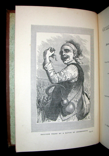 1896 Rare Victorian Book - Gulliver's Travels Into Several Remote Nations of the World