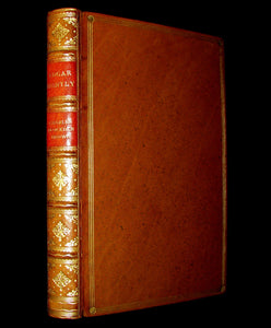 1835 Gothic Book - EDGAR HUNTLY OR THE SLEEP WALKER. Fine binding by Zaehnsdorf.