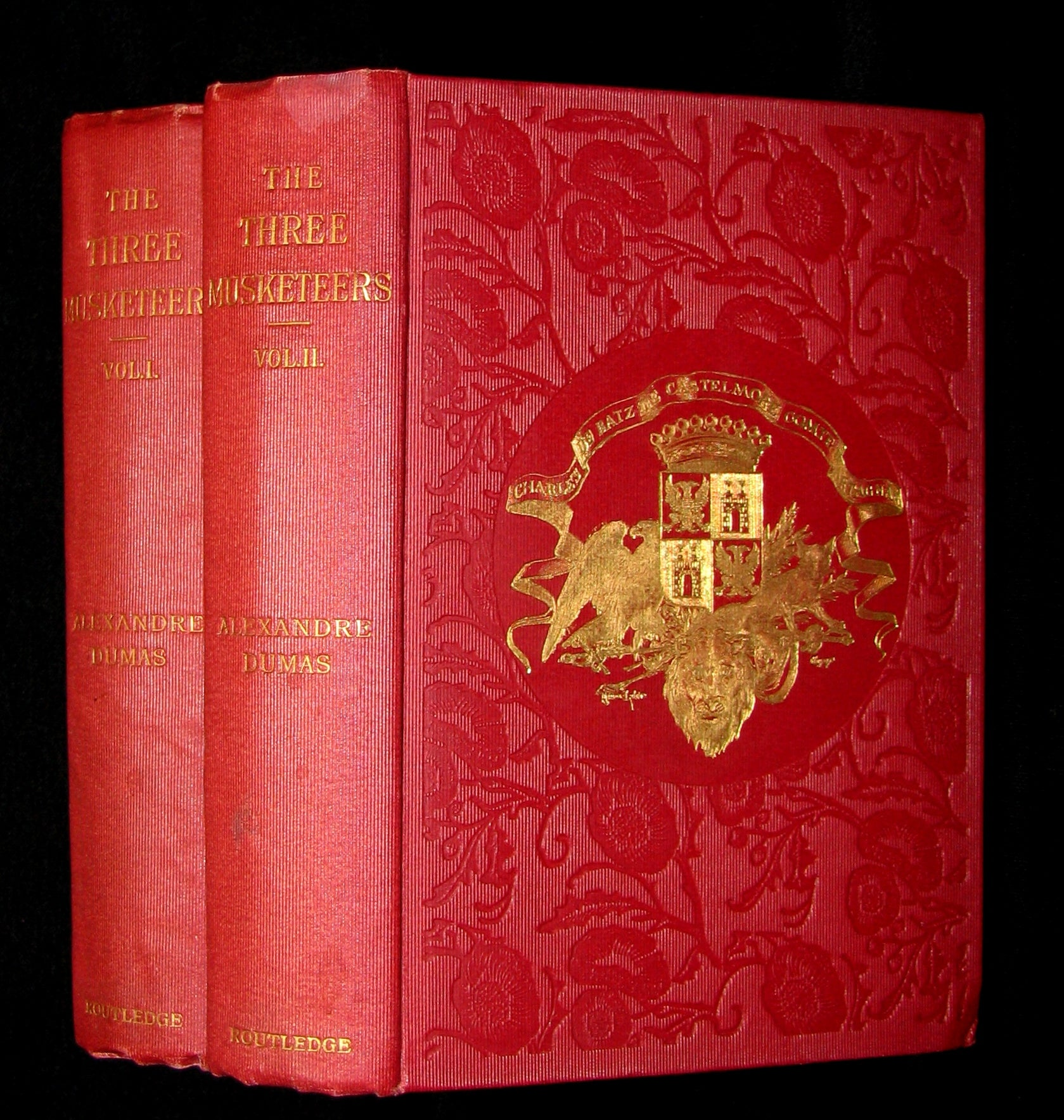 1895 Rare Book set - The Three Musketeers by Alexandre Dumas